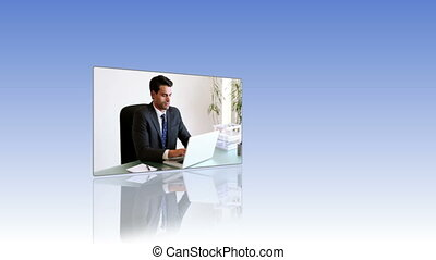 mensen, video's, werken, zakelijk
