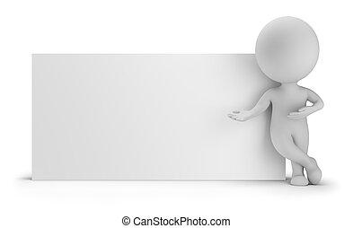 mensen, -, volgende, plank, kleine, lege, 3d