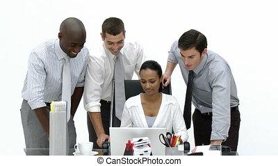 mensen zaak, aan het werk werkkring, samen