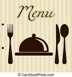 menu, achtergrond, restaurant
