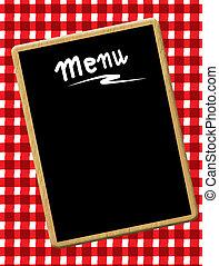 menu, bord