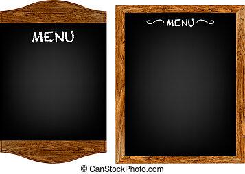 menu, set, tekst, plank, restaurant