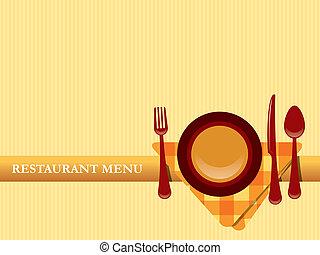 menu, vector, ontwerp, restaurant