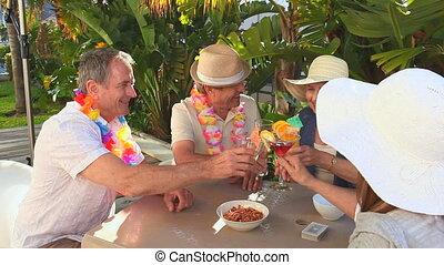 middelbare leeftijd , vrienden, vieren