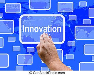 middelen, scherm, innovatie, creativiteit, ideeën, concepten, beroeren