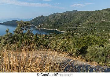 mikros, ionian, strand, griekenland, lefkada, gialos, eilanden