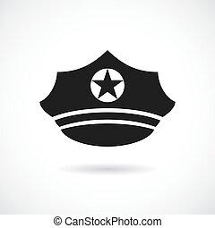 militair, pet, vector, pictogram