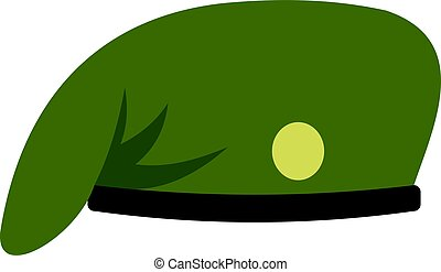 militair, pet, vrijstaand, pictogram