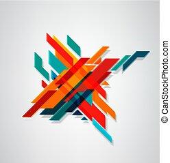 minimalist, anders, abstract, (3d, zakelijk, concept., moderne, lijnen, diagonaal, vaag, kleuren, vector, geometrisch, element, effect)., design.