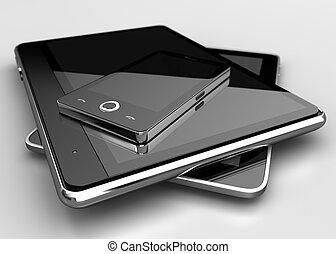 mobiele telefoon, tabletten, digitale