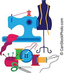 mode, communie, set, ontwerperkleren, decoratief