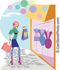 mode, shoppen