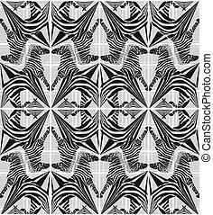 model, abstract, seamless, zebra