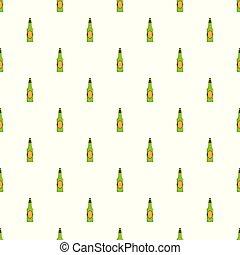 model, bier, seamless, fles