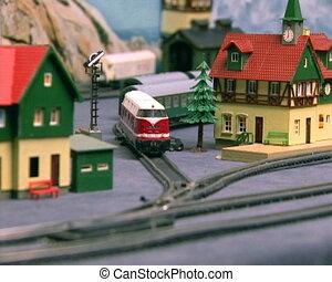 model, breadboard, railway., pal