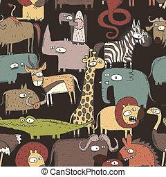 model, dieren, seamless, afrikaan