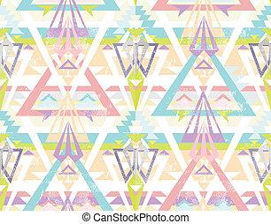 model, geometrisch, seamless, aztec