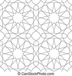 model, geometrisch, witte , seamless