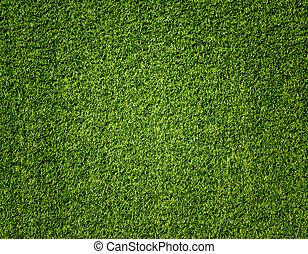 model, kunstmatig, groene achtergrond, kunstgras
