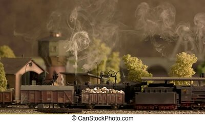 model, locomotief, dragen, stoom, freight.