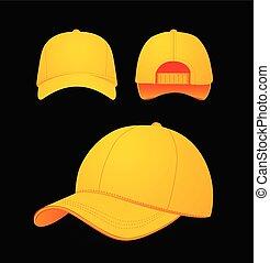 model, pet, illustratie, donker, achtergrond., vector, honkbal, ontwerp