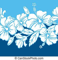 model, seamless, hibiscus, hybride