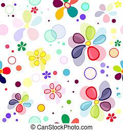 model, seamless, levendig, floral