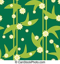 model, seamless, ontwerp, floral, groene, bloemen