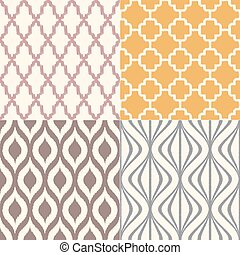 model, -, seamless, textiel, vector, achtergrond, geometrisch