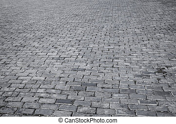 model, tegels, straat, retro