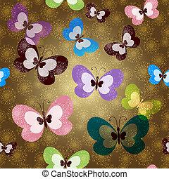 model, vlinder, groene, seamless
