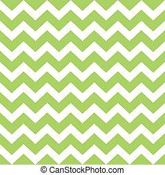 model, zigzag, wild, vrijstaand, groen wit