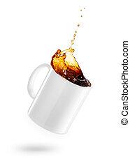 mok, koffie, verspillen