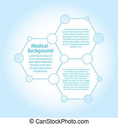 molecules, (vector), ruimte, abstract, achtergrond, kopie, medisch
