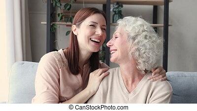 moment., familie generaties, anders, aanhankelijk, zoet, teder, het genieten van