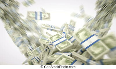money:, motie, vertragen, dollar, contant