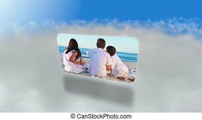 montage, strand, families