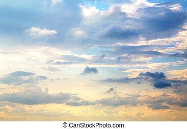 mooi, de hemel van de zonsondergang