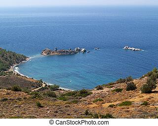 mooi, eiland, strand, chios, griekenland