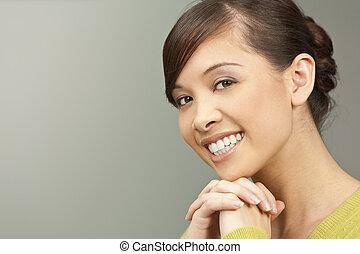 mooi, glimlachen