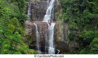 mooi, groot, waterval