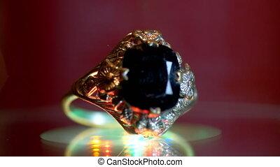 mooi, jewelery, goud, luxueus