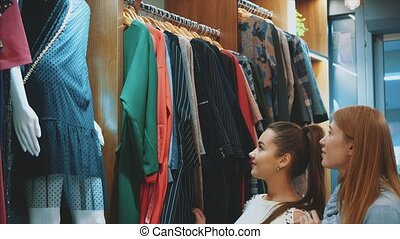mooi, jonge, markt, friends., wekelijks, kleding, best, vrouwen