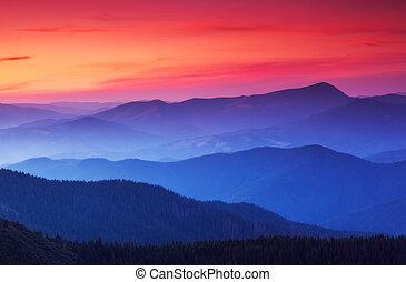 mooi, landscape, bergen