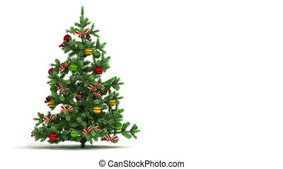 mooi, looped, boompje, kerstmis