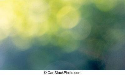 mooi, opmaak, abstract, gele, vaag, achtergrond., bokeh, groene