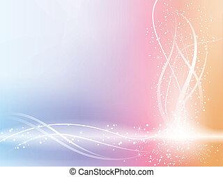 mooi, pastel, sterretjes, achtergrond, swirls.