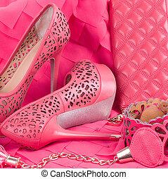 mooi, roze, schoen