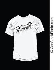 mooi, t-shirt, ontwerp, zwarte achtergrond