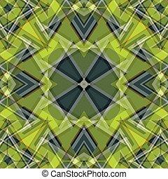 mooi, voorwerpen, abstract, illustratie, vector, groene achtergrond, geometrisch